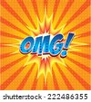 Oh my god! wording in comic speech bubble in pop art style on burst background - stock vector