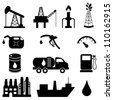 Oil and petroleum icon set - stock photo