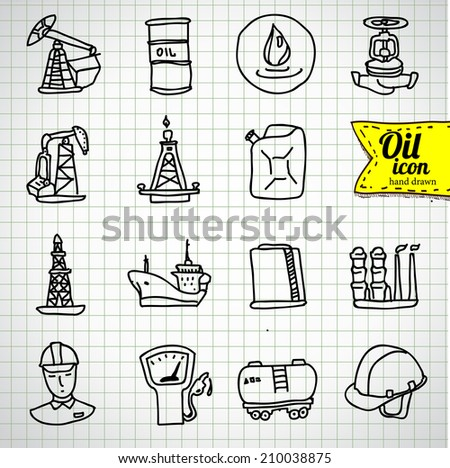 Oil and petroleum icon set - stock vector