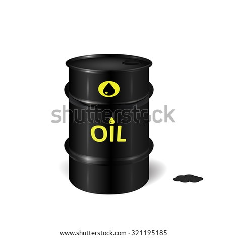 Oil barrel icon, 3d vector object of oil resources on white background, eps 10 - stock vector