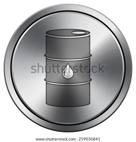 Oil barrel icon. Internet button on white background. EPS10 Vector.