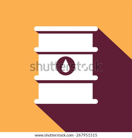 Oil barrel icon. Vector illustration. Flat design style - stock vector