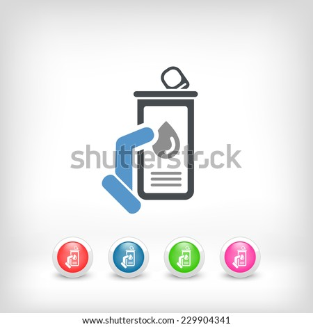 Oil cans - stock vector