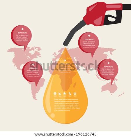 Oil Concept.vector Design EPS10. - stock vector