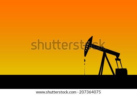 Oil derrick. Vector - stock vector