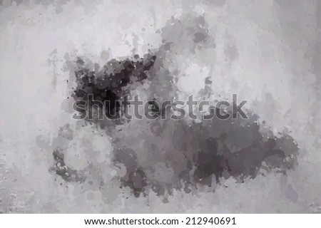 Oil drop abstract background gray