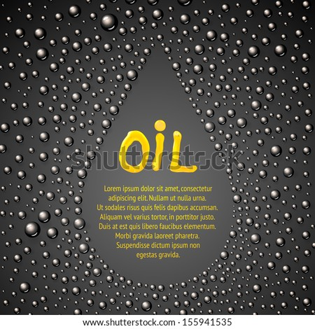 Oil drop abstraction. Vector illustration. - stock vector