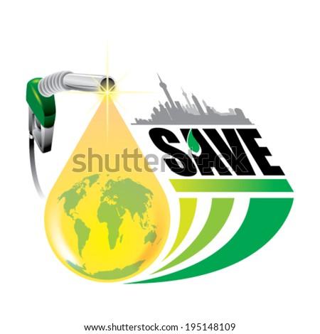 Oil drop concept - vector illustration - stock vector