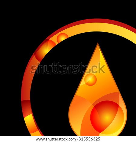 oil drop liquid vector yellow symbol illustration - stock vector