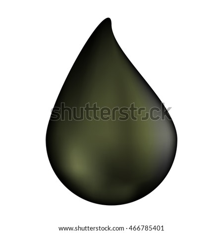 oil drop vector symbol icon design. illustration isolated on white background