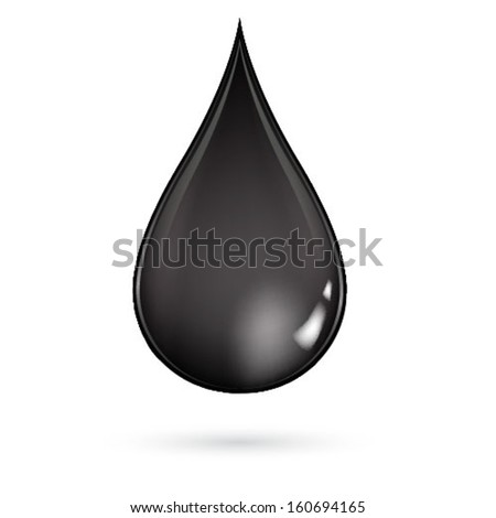 Oil droplet isolated on white background  - stock vector