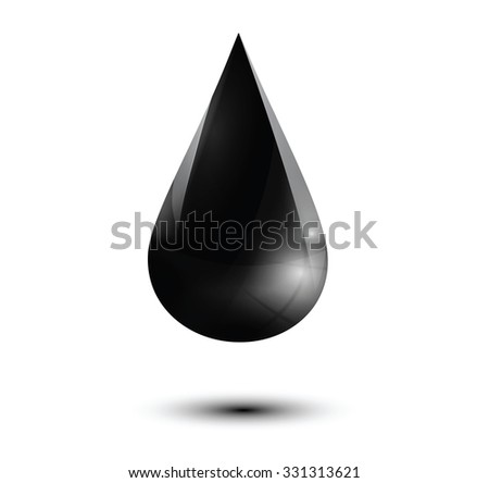 oil droplet isolated on white. Vector illustration
