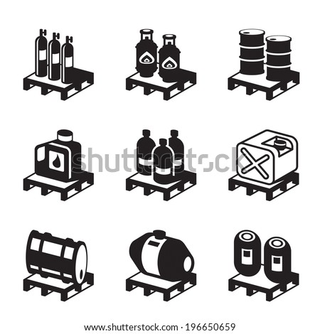 Oil, gas and chemical products - vector illustration - stock vector