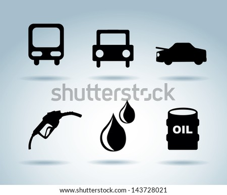 oil icons over blue background vector illustration - stock vector