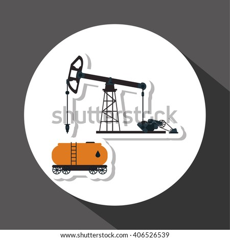 Oil industry and container design, vector illustration