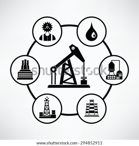 Oil industry concept,Circle info graphic design,clean vector