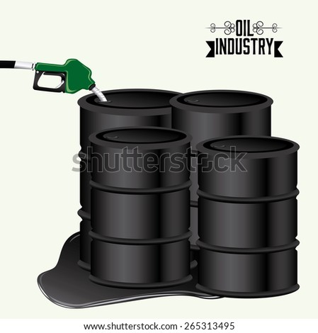 Oil Industry design over white background, vector illustration