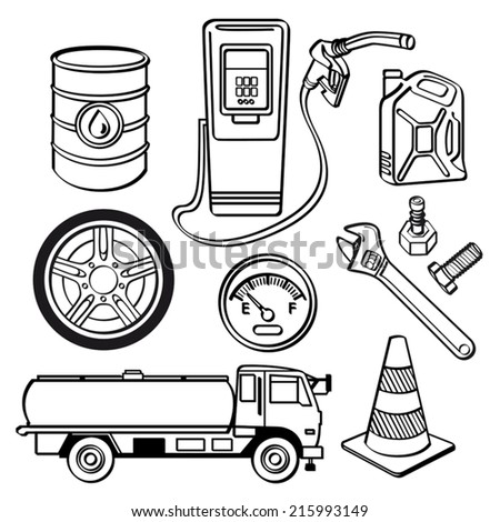 Oil industry Icon Set - stock vector