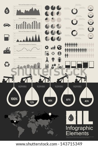 Oil Industry Infographic Elements - stock vector