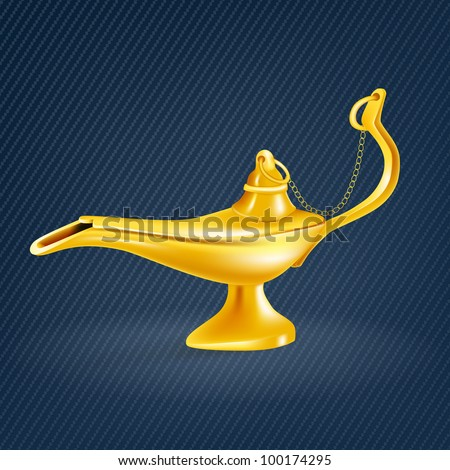 Oil lamp - stock vector