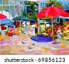 oil painting. I, the artist, owns the copyright . - stock photo