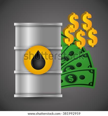 Oil price design  - stock vector