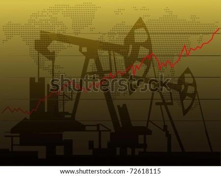 Oil price increase - stock vector