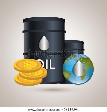 oil prices design  - stock vector