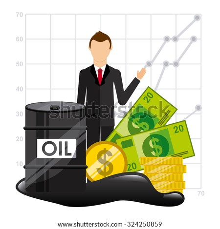 oil prices design, vector illustration eps10 graphic  - stock vector