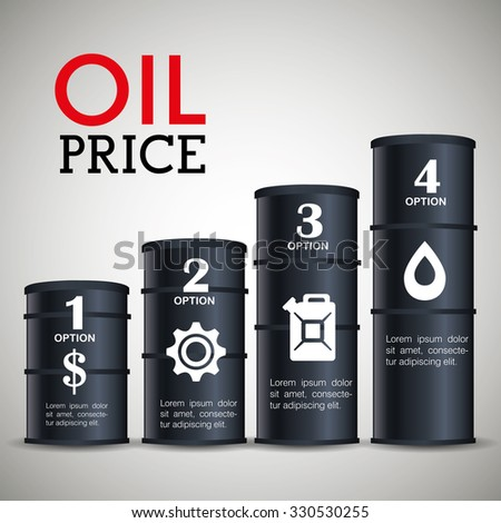 Oil prices infographic design, vector illustration eps10. - stock vector