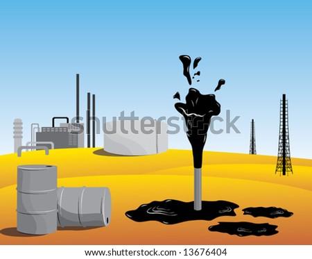 oil producing organization - stock vector