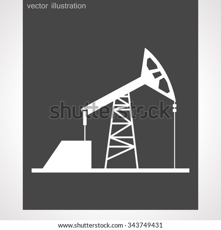 Oil production vector. vector illustration