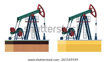oil pump - stock vector