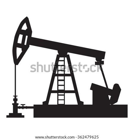 Oil pump pumpjack  vector illustrations - stock vector