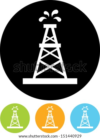 Oil rig vector icon  - stock vector