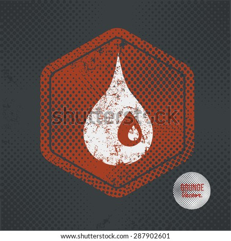 Oil,stamp design on old dark background,grunge concept,vector - stock vector