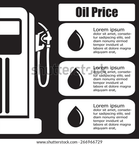 oil station price display. Vector EPS 10.