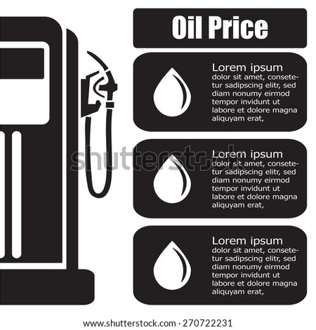 oil station price display. Vector EPS 10.  - stock vector