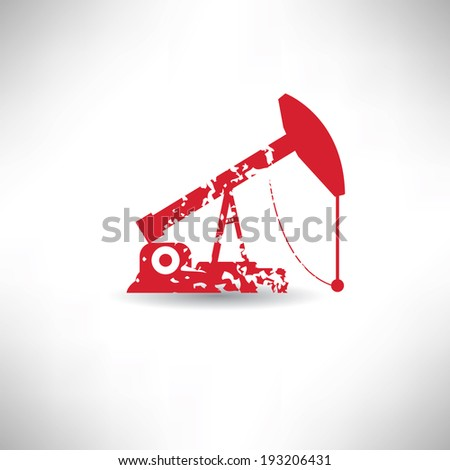 Oil symbol,grunge vector - stock vector