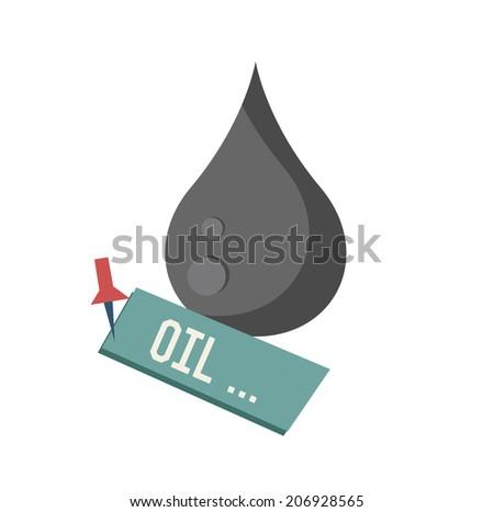 Oil symbol on white background,Retro colour concept,clean vector  - stock vector