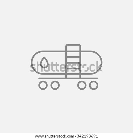 Oil tank line icon for web, mobile and infographics. Vector dark grey icon isolated on light grey background. - stock vector