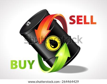 Oil trading - stock vector