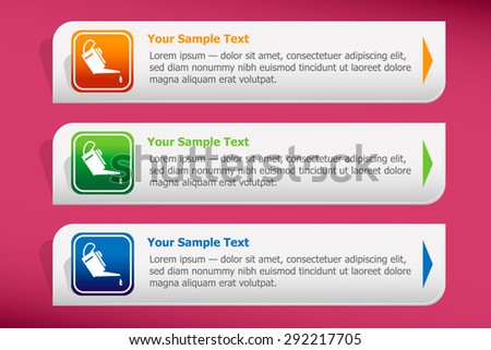 Oiler icon and design template vector. Graphic  or website. - stock vector