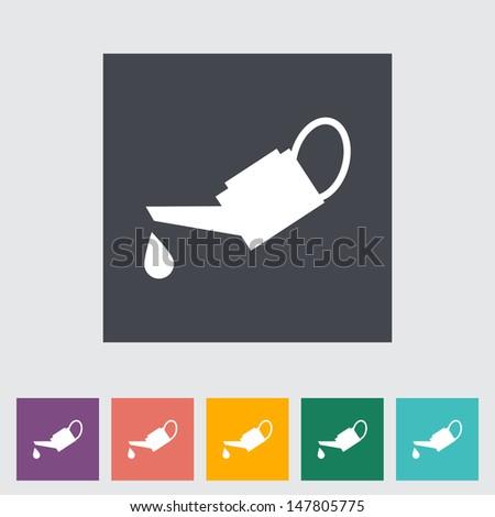 Oiler single flat icon. Vector illustration. - stock vector