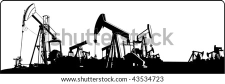 oilfield - stock vector