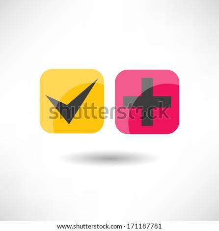 Ok icon - stock vector
