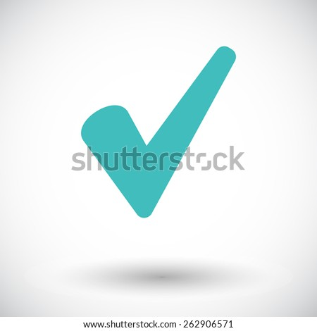 Ok. Single flat icon on white background. Vector illustration. - stock vector