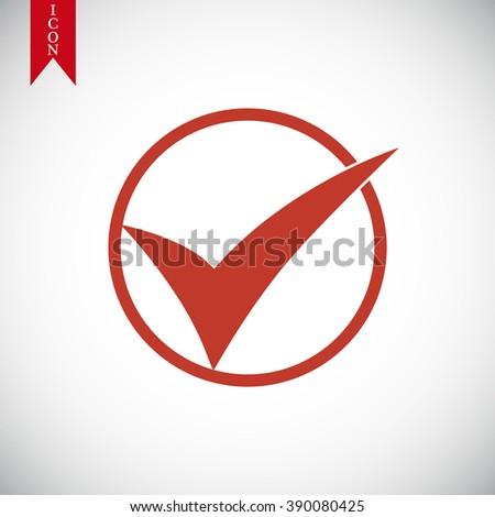 okay vector icon - stock vector