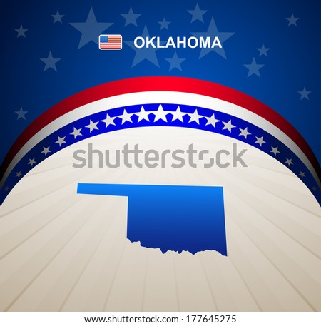 Oklahoma map vector background - stock vector