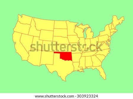 oklahoma state usa vector map isolated stock photo photo vector illustration 303923324 shutterstock